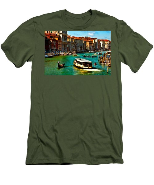 Grand Canal Daytime Men's T-Shirt (Slim Fit) by Harry Spitz