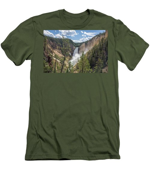 Grand Canyon Of Yellowstone Men's T-Shirt (Slim Fit) by Alpha Wanderlust
