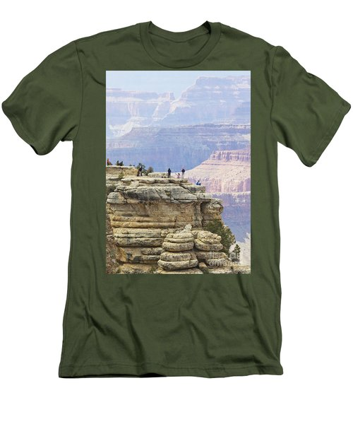 Men's T-Shirt (Slim Fit) featuring the photograph Grand Canyon Vista by Chris Dutton