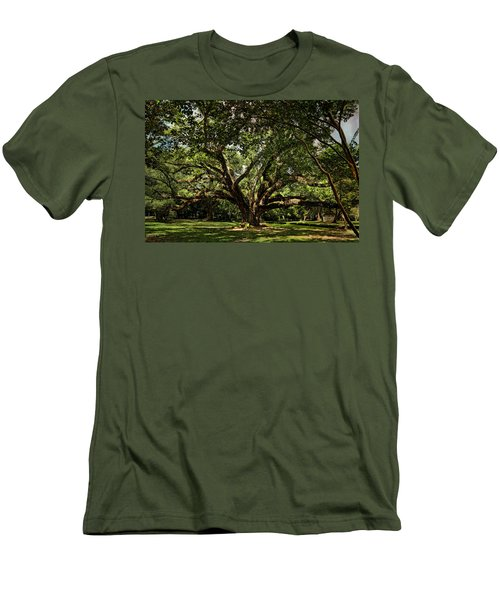 Grand Oak Tree Men's T-Shirt (Athletic Fit)