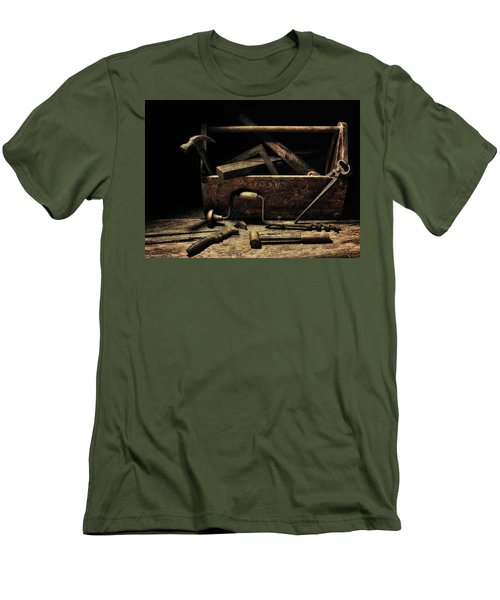 Men's T-Shirt (Slim Fit) featuring the photograph Granddad's Tools by Mark Fuller