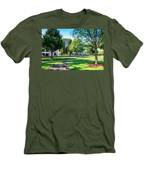 Grandstand At Keeneland Ky Men's T-Shirt (Slim Fit) by Chris Smith
