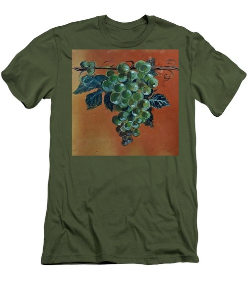 Grape Men's T-Shirt (Slim Fit) by Andrew Drozdowicz