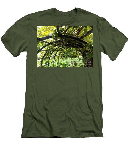 Grape Tunnel Men's T-Shirt (Slim Fit) by Erick Schmidt