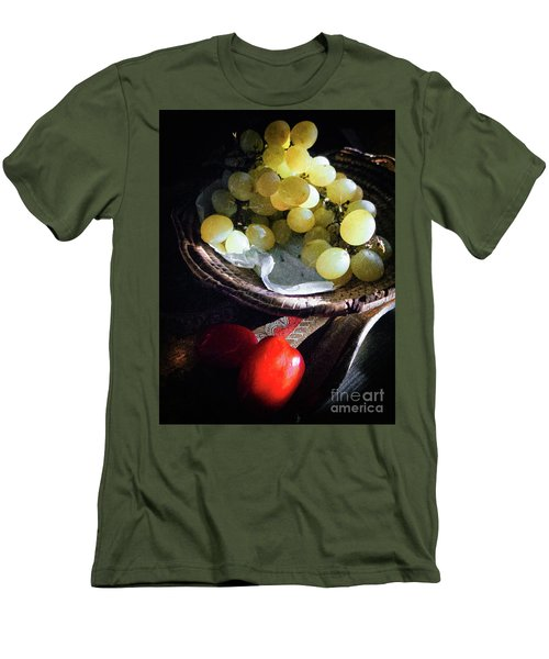 Men's T-Shirt (Athletic Fit) featuring the photograph Grapes And Tomatoes by Silvia Ganora