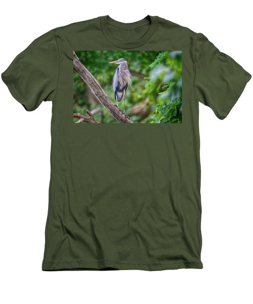 Great Blue Heron 2 Men's T-Shirt (Slim Fit) by Gary Hall