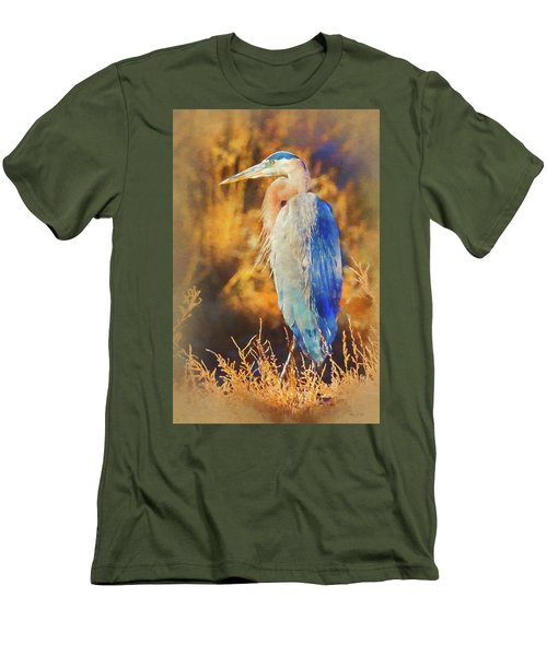 Men's T-Shirt (Athletic Fit) featuring the photograph Great Blue Heron by Bellesouth Studio