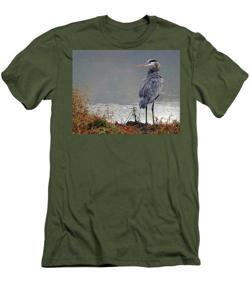 Great Blue Heron Landscape Men's T-Shirt (Athletic Fit)
