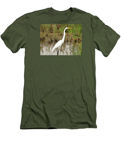 Great Egret Men's T-Shirt (Slim Fit) by Maciek Froncisz