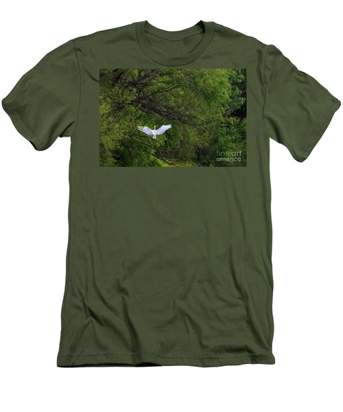 Great Egrets In The Shore Men's T-Shirt (Slim Fit)