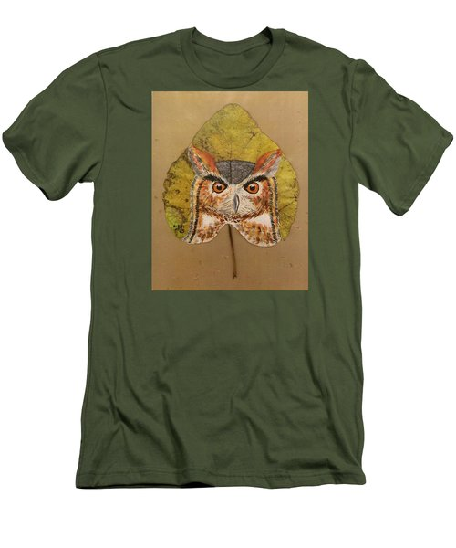 Great Horned Owl Men's T-Shirt (Slim Fit) by Ralph Root
