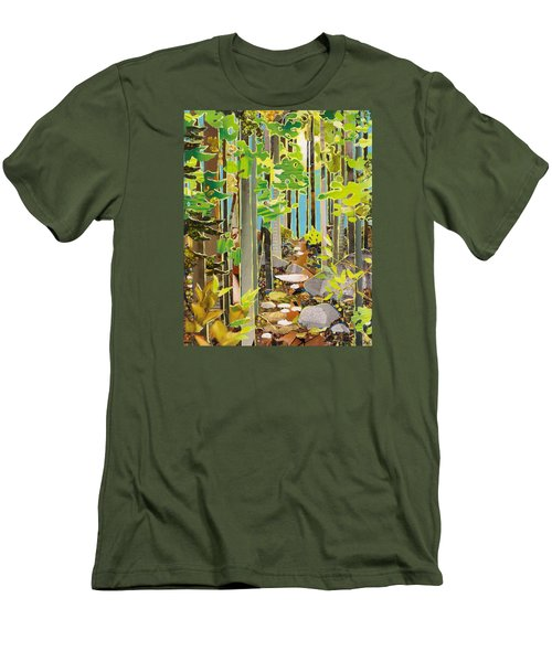 Great Maine Woods Men's T-Shirt (Slim Fit) by Robin Birrell
