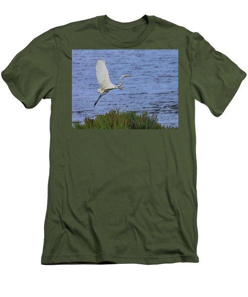 Great White Egret Men's T-Shirt (Athletic Fit)