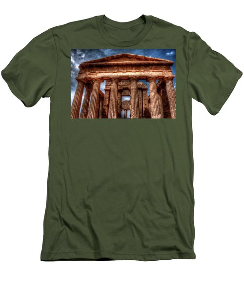 Temple Of Concord  Men's T-Shirt (Slim Fit) by Patrick Boening