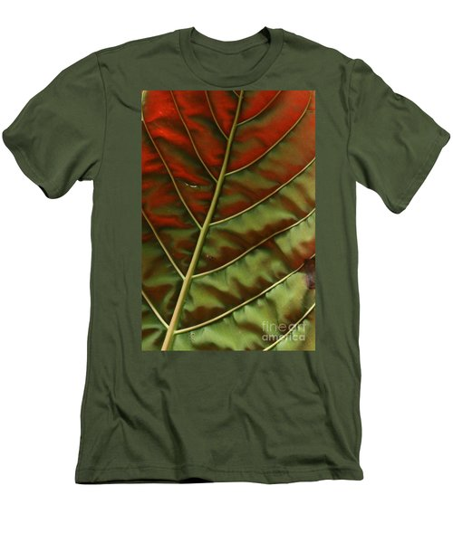 Green And Red Leaf Silky Dunes 2 Men's T-Shirt (Athletic Fit)