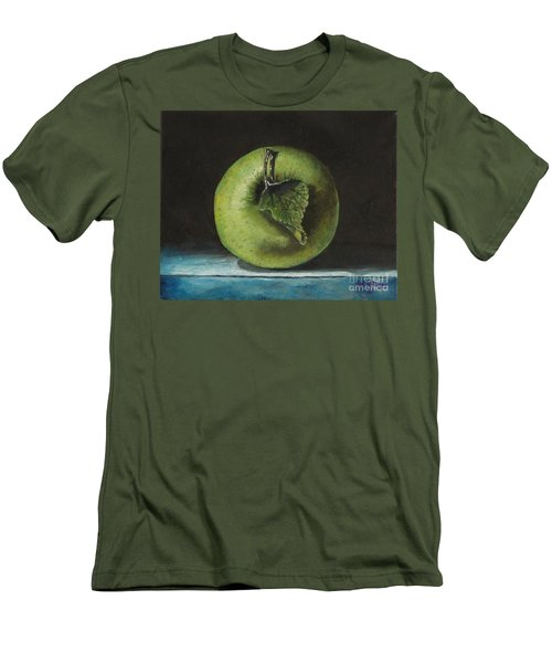 Green And Yellow Apple Men's T-Shirt (Athletic Fit)