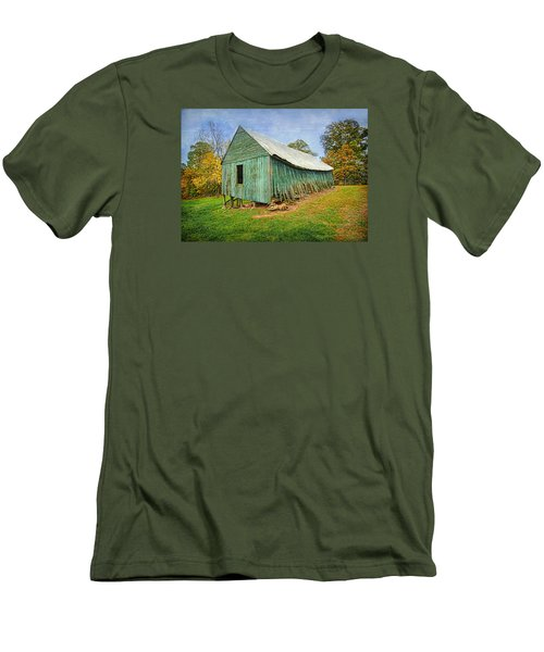 Green Barn Men's T-Shirt (Slim Fit) by Marion Johnson