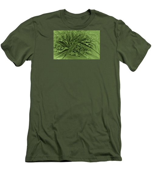 Men's T-Shirt (Athletic Fit) featuring the photograph Green Bird Of Paradise by Nareeta Martin