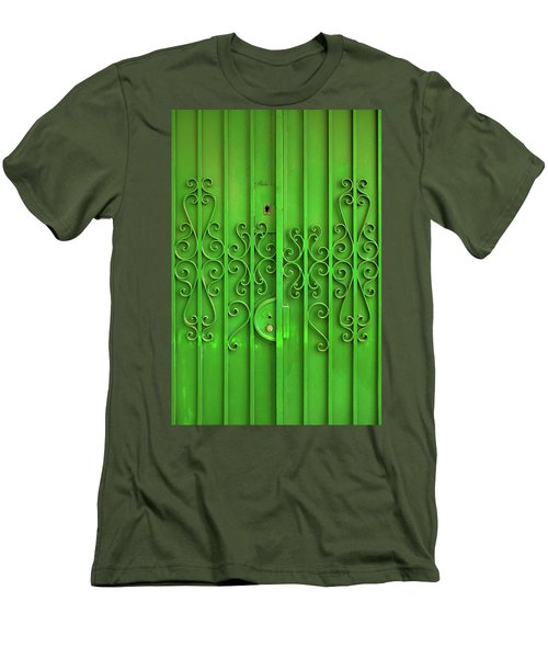 Men's T-Shirt (Slim Fit) featuring the photograph Green Door by Carlos Caetano