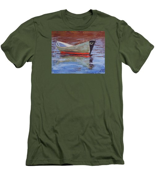 Green Dory Men's T-Shirt (Slim Fit) by Trina Teele