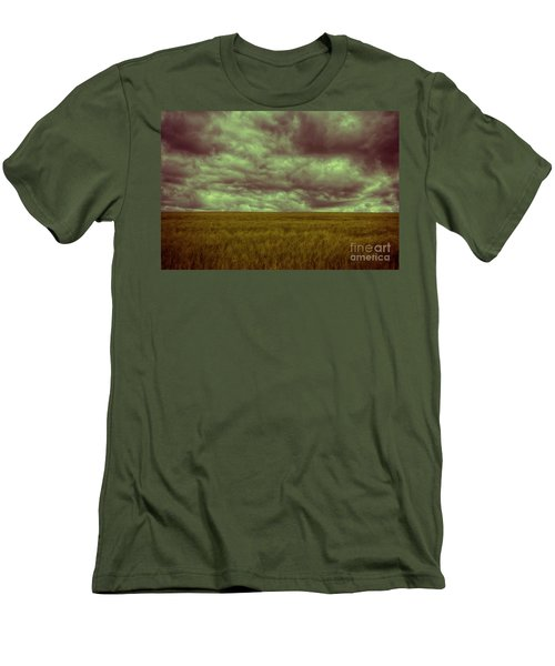 Green Fields 3 Men's T-Shirt (Slim Fit) by Douglas Barnard