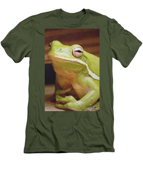 Green Frog Men's T-Shirt (Slim Fit) by J R Seymour