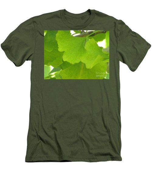Green Ginkgo Men's T-Shirt (Athletic Fit)