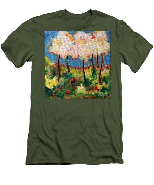 Green Glade Men's T-Shirt (Slim Fit) by Elizabeth Fontaine-Barr