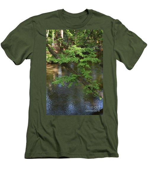Men's T-Shirt (Slim Fit) featuring the photograph Green Is For Spring by Skip Willits