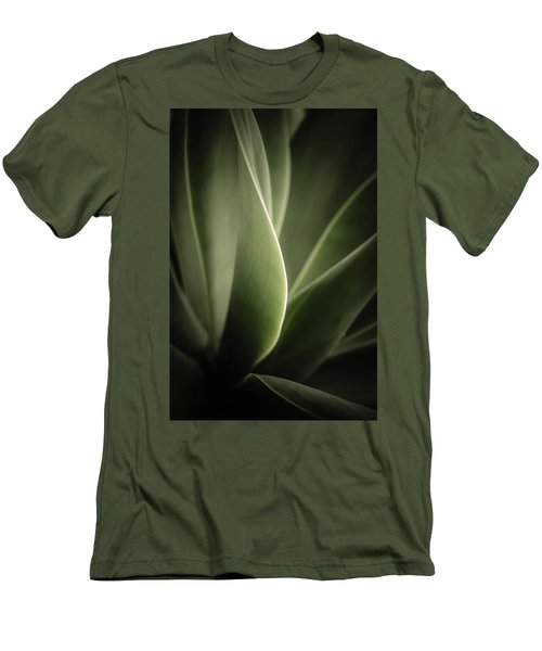 Men's T-Shirt (Slim Fit) featuring the photograph Green Leaves Abstract by Marco Oliveira
