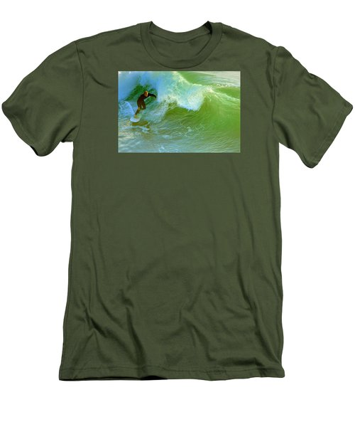 Men's T-Shirt (Slim Fit) featuring the photograph Green Machine by Everette McMahan jr