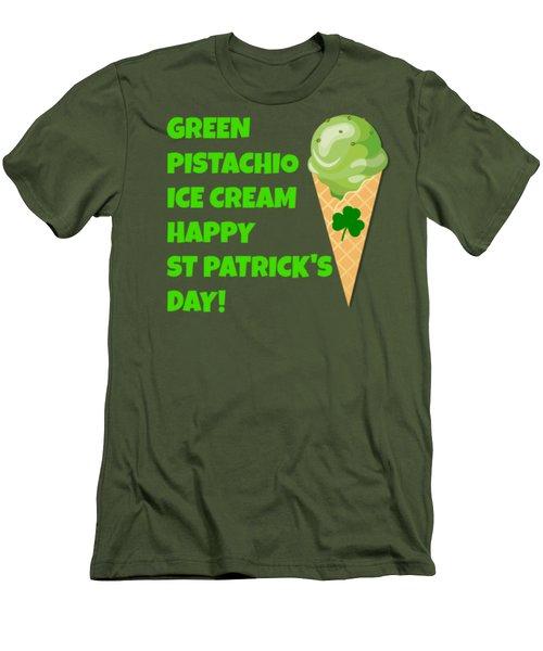 Green Pistachio Ice Cream Happy St Patricks Day Men's T-Shirt (Slim Fit) by Peter Gumaer Ogden