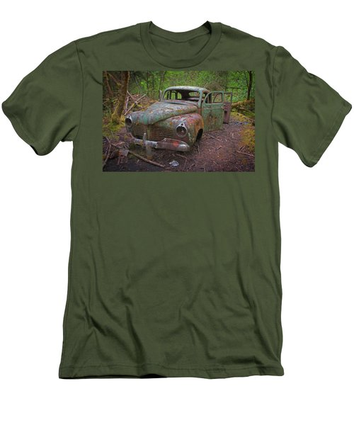 Green Relic Men's T-Shirt (Slim Fit) by Cathy Mahnke