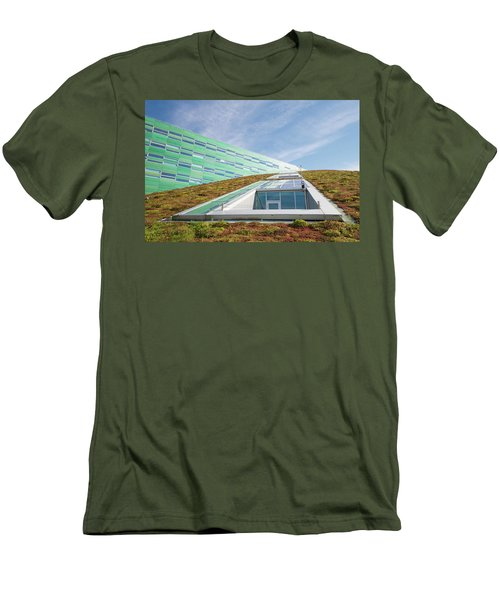 Men's T-Shirt (Slim Fit) featuring the photograph Green Roof by Hans Engbers