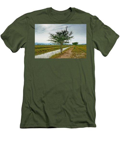 Men's T-Shirt (Slim Fit) featuring the photograph Green Tree by Arik S Mintorogo