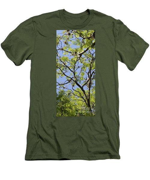 Greenery Center Panel Men's T-Shirt (Slim Fit) by Renie Rutten