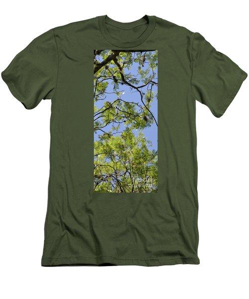 Greenery Right Panel Men's T-Shirt (Slim Fit) by Renie Rutten
