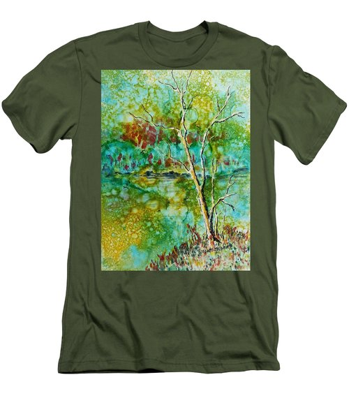 Greens Of Late Summer Men's T-Shirt (Slim Fit) by Carolyn Rosenberger
