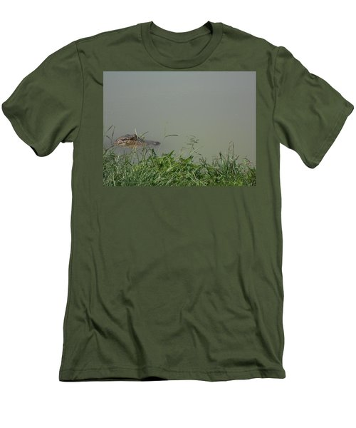 Men's T-Shirt (Slim Fit) featuring the photograph Greenwood Gator Farm by Cynthia Powell