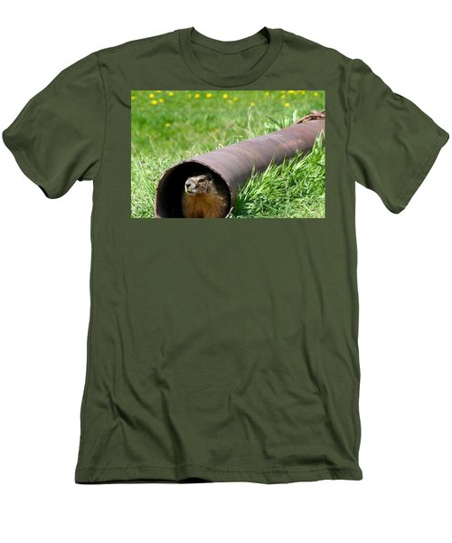 Groundhog In A Pipe Men's T-Shirt (Athletic Fit)