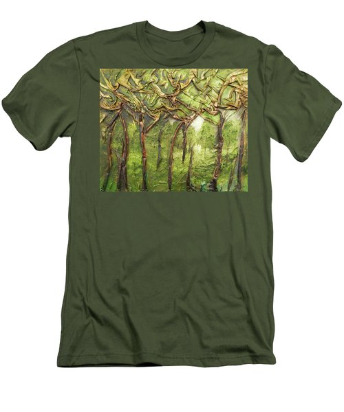 Grove Of Trees Men's T-Shirt (Slim Fit) by Angela Stout