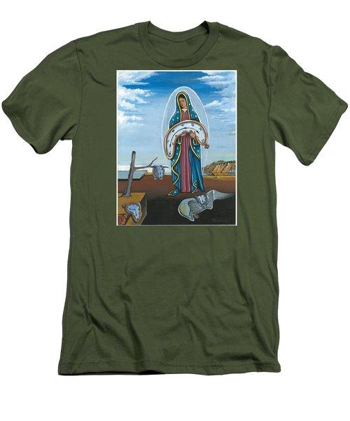 Guadalupe Visits Dali Men's T-Shirt (Slim Fit)