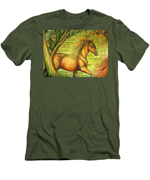 Guidance-out Of The Woods Men's T-Shirt (Slim Fit) by Kim Jones