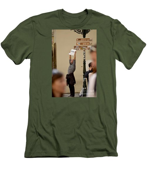 Men's T-Shirt (Slim Fit) featuring the digital art Guide by Leo Symon