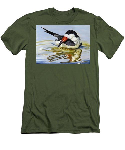 Gulf Coast Black Skimmer Men's T-Shirt (Slim Fit) by Phyllis Beiser