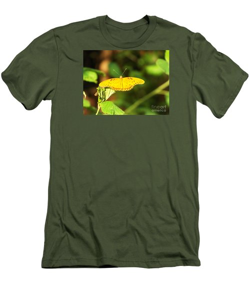 Gulf Fritillary Men's T-Shirt (Slim Fit) by Audrey Van Tassell