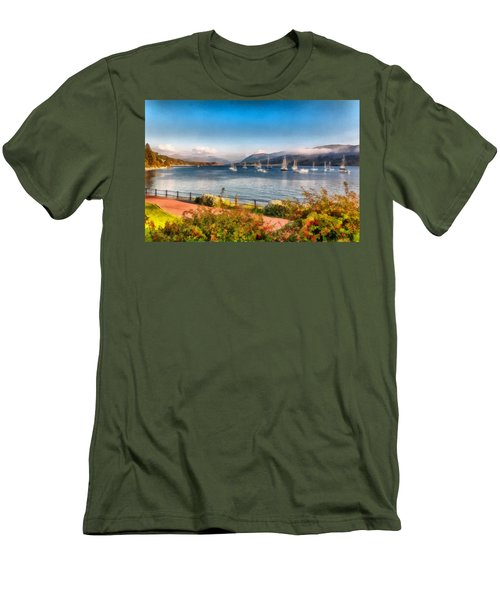 Gulf Of  Ullapool      Men's T-Shirt (Slim Fit) by Sergey Simanovsky