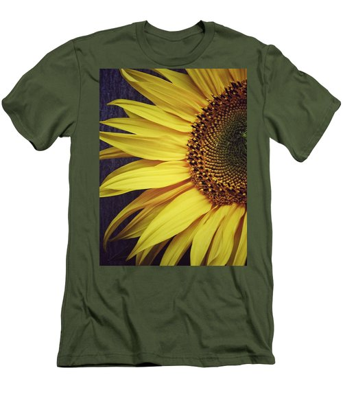 Men's T-Shirt (Slim Fit) featuring the photograph Half Yellow by Karen Stahlros