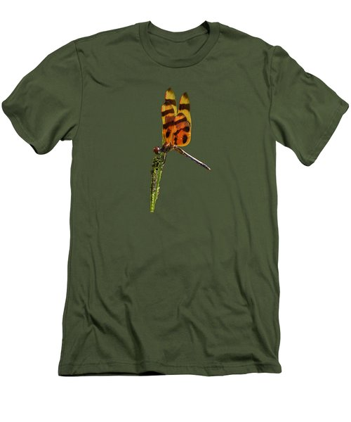 Men's T-Shirt (Slim Fit) featuring the photograph Halloween Pennant Dragonfly .png by Al Powell Photography USA