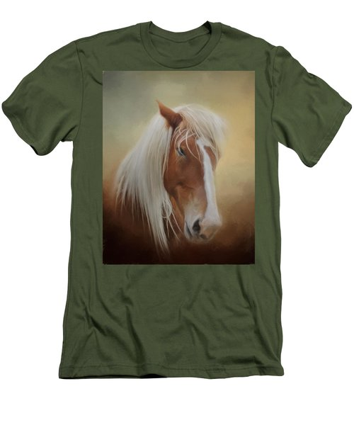 Handsome Belgian Horse Men's T-Shirt (Slim Fit) by David and Carol Kelly